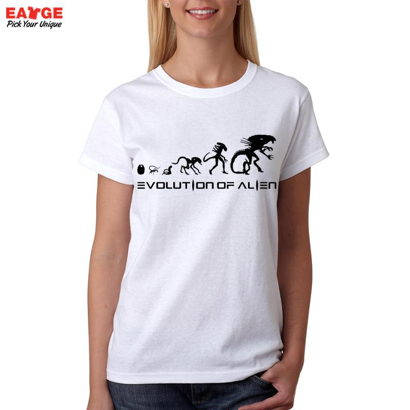 bec37de70b [EATGE] New High Quality Alien Evolution Design T shirt Men Funny White  Round Neck Summer T Shirt Fashion Tshirt Novelty Tee-in T-Shirts from Men's  Clothing ...