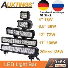 Auxtings 4 12 15 17 20 inç offroad led ışık çubuğu 12V 24V nokta sel led çalışma jip için lamba araba 4WD kamyon 4x4 SUV ATV
