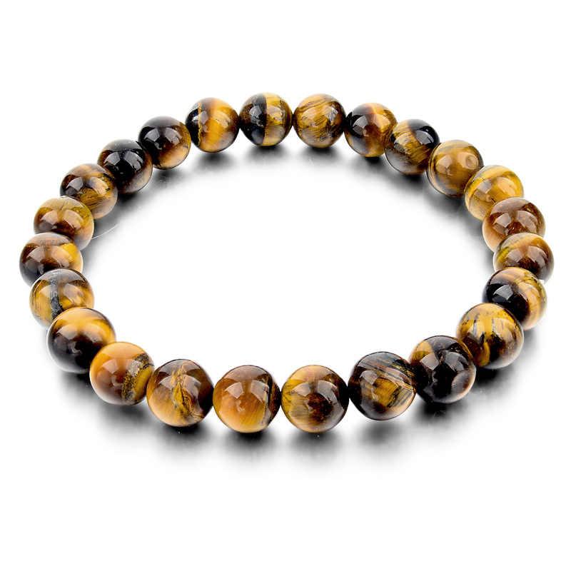 4 gaya Harimau Mata Cinta Buddha Gelang & Gelang Trendy rhao Alami Batu Gelang Untuk Wanita Pria Merek Perhiasan