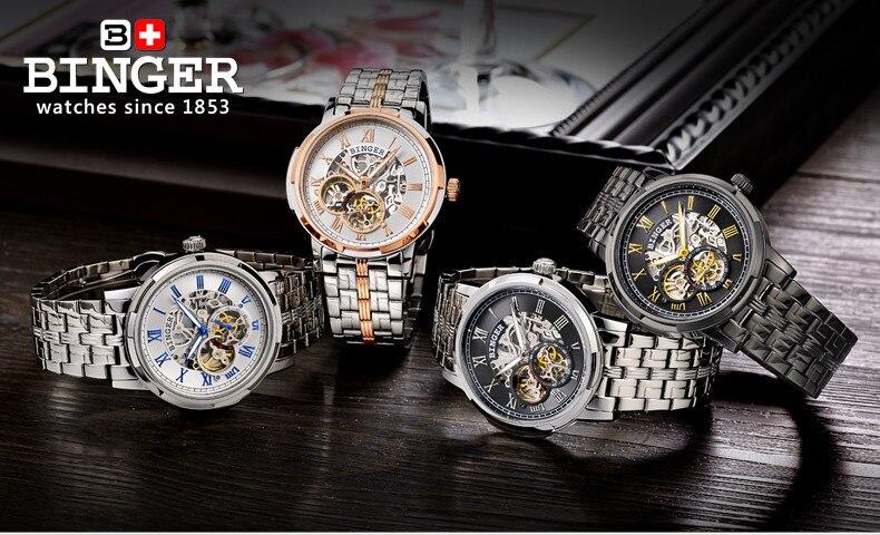 BINGER horloges luxe B5036-3 31
