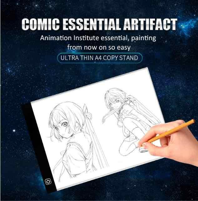 ... Digital Graphic Tablet A4 LED Graphic Artist Thin Art Stencil Drawing  Board Light Box Tracing Table ... 45b58b10e4ff