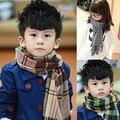 Мода классическая плед кашемир шарф дети детей зимние теплый платки мальчики девочки платок размер 190 * 34