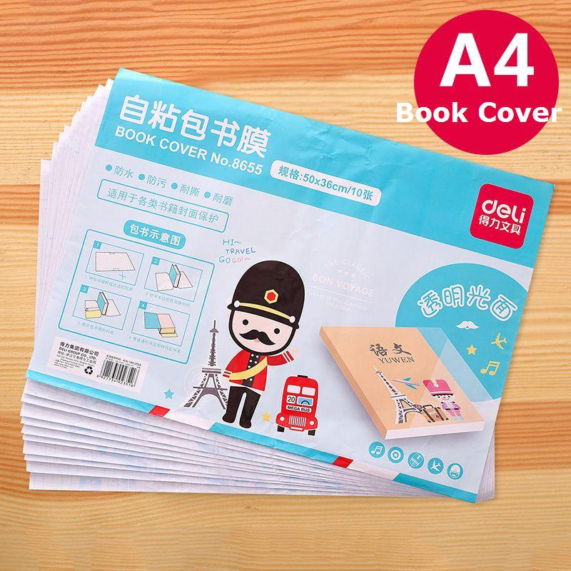 10 Sheets Free Shipping Books Protective Transparent Thicken Book Covers For Students Gradebook 50X36cm A4 Protect Book 8655