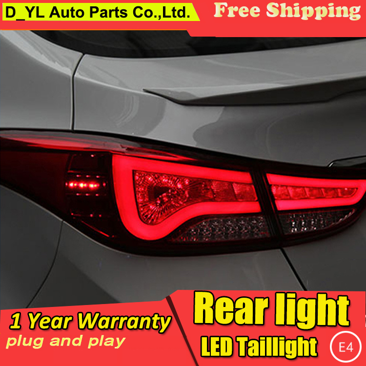 Car Styling LED Tail Lamp for Hyundai Elantra Taillights BMW Design Rear Light DRL Turn Signal