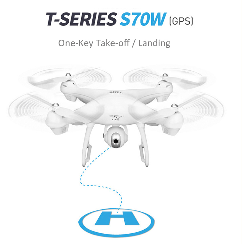 S70W GPS FPV RC Drone with 1080P HD Adjustable Wide-Angle Camera WiFi Live Video Follow Me GPS Return Home RC Quadcopter Dron 5