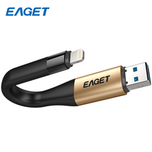 EAGET i90 2 In 1 MFI Certified USB 3.0 64G 128G USB Flash Drives Charging Pendrive Memory High Speed For Lightning For iPhone