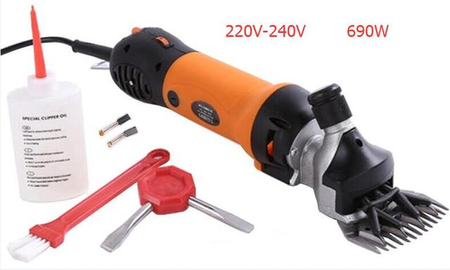 Free shipping 220 V - 240 V 690W Flexible shaft Electric Sheep Goat Shearing Machine Clipper Shears Cutter Wool scissor
