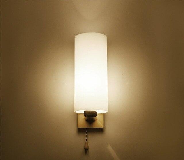 Wall Lamp Solid Wood Minimalist Entrance Hallway Light Modern Wall ...