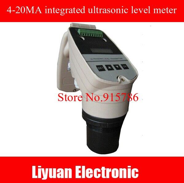4 20MA integrated ultrasonic level meter / ultrasonic level meter / 0 5M ultrasonic water level gauge / DC24V level sensor