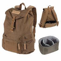 Top Deals CADEN Canvas Vintage Waterproof Double Shoulder Shoulder Camera Bag For Canon Nikon