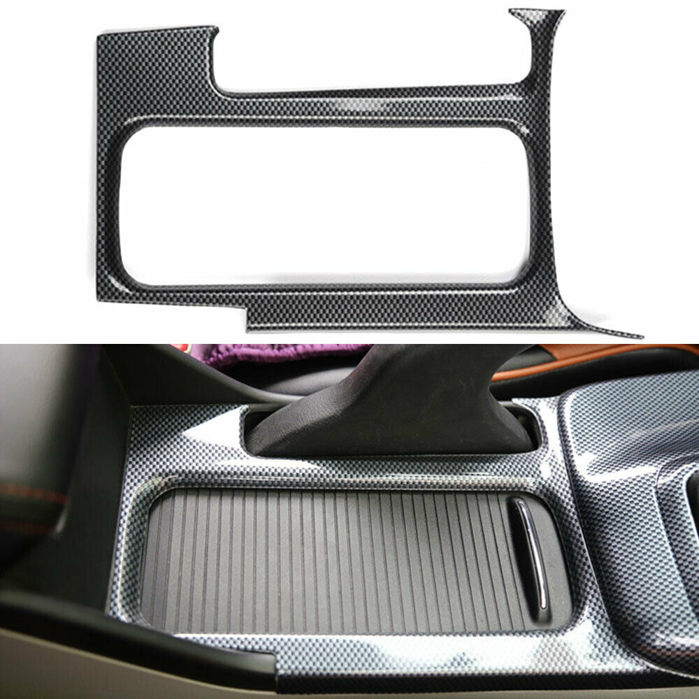 For Honda Civic 9th 2012 2014 Carbon Fiber Style ABS Car Water Cup Holder Cover Trim Interior Mouldings     - title=