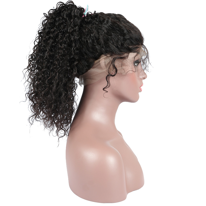 Curly 360 Lace Frontal Wig Pre Plucked With Baby Hair Brazilian Lace Front Human Hair Wigs For Women Remy 150% Density Dolago