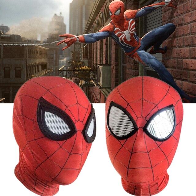 Spider Man Peter Parker Mask Lenses 3D Cosplay Spiderman Superhero Props