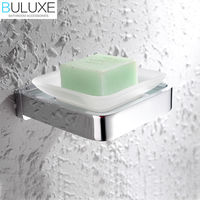 BULUXE Solid Brass Bathroom Accessories Wall Mounted Soap Dish Holder Bath Acessorios de banheiro Soap Box HP7709