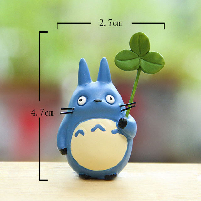 3Pcs Totoro With Leaf Figure