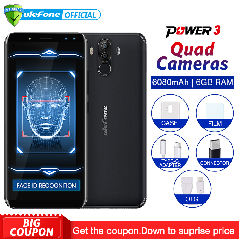 Ulefone Power 3 Android 7 1 Mobile Phone 6 0 18 9 FHD MT6763 Octa Core