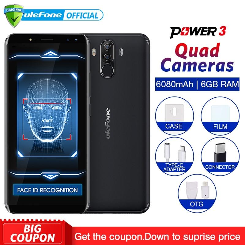Ulefone Power 3 Android 7.1 téléphone portable 6.0