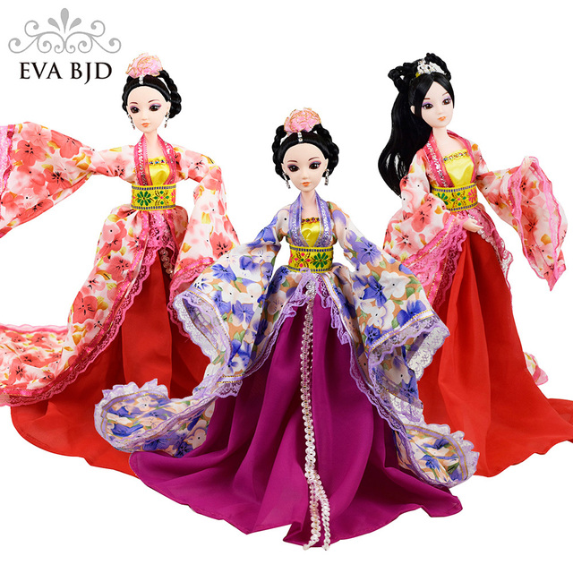 1dd1e139838 US $10.99 |1/6 Chinese Ancient Princess Bjd Doll With Patterned Skirt For  Mini Baby Doll Toy Classic Dress Miniature Doll db030-in Dolls from Toys &  ...