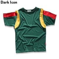 Kleur Contrast Casual Mens T-shirt Korte Mouw 2017 Zomer Patchwork T-shirt Mannen Tee Shirts Katoen