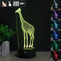 Giraffe 3D Night Light RGB Changeable Mood Lamp LED Light DC 5V USB Decorative Table Lamp Get a free remote control Baby Sleepin