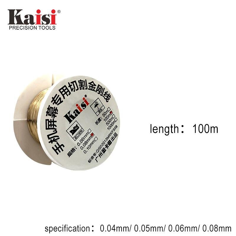 Kaisi liga de aço molibdênio fio de corte linha display lcd tela reparo separador para iphone