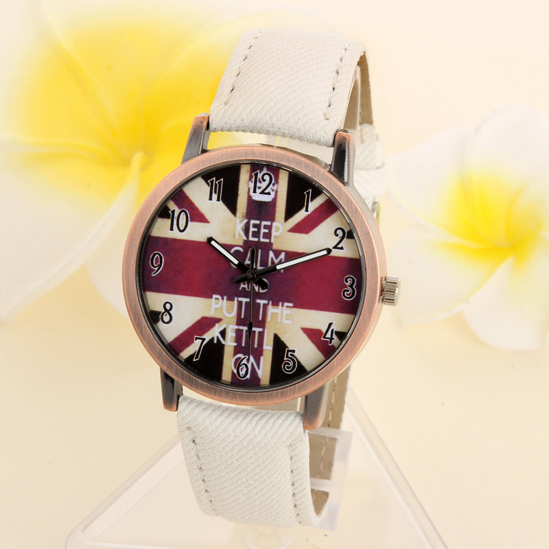 2018 New Fashion Brand Unisex Watches Women Men Casual Quartz Sports Watch Denim Fabric Uk Flag Wrist Watches Relogio Clock Gift 100% Original Lover's Watches