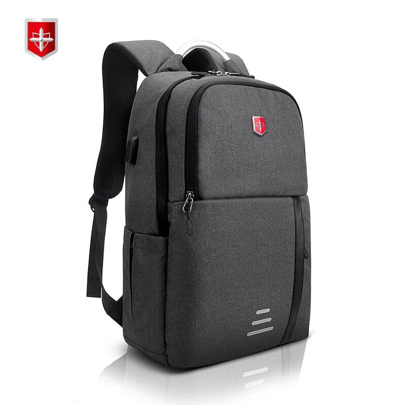 Swiss Laptop Backpack Men Women for 15 Inch USB charging Notebook Computer Rucksack Waterproof School Bag