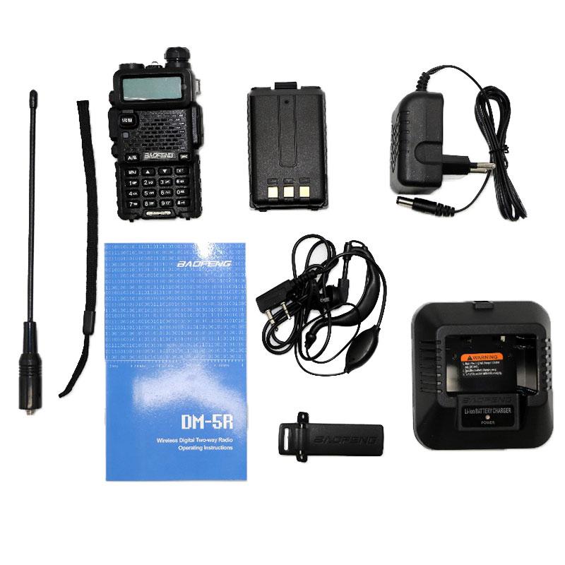 Купить с кэшбэком Baofeng DM-5R Walkie Talkie Dual Band HAM CB Radio 2 Way Portable Transceiver VHF UHF UV 5R DMR Radios Communicator Stereo