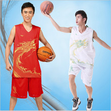 2017 New Brands Men's Exquisite pattern jersey Set sports shirt training basketball jersey suit Breathable Sports Wear Kits