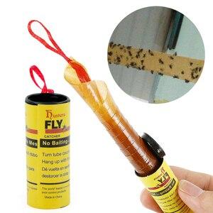 Image 1 - 4 לחמניות לטוס דבק נייר הדברה זבוב רוצח חרקים באג מלכודת רצועת סרט דביק Fies קיץ כלים