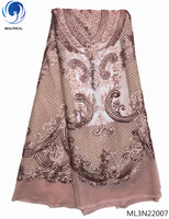 BEAUTIFICAL African lace fabric French sequins lace fabric grey color heavy lace fabric 2019 glisten lace ML3N220