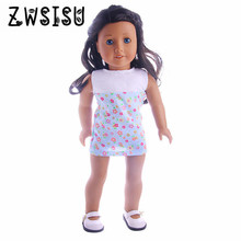 где купить 2018 new dress, suitable for 18inch American  doll, suitable for 43cm  doll, best gifts for children doll accessories дешево