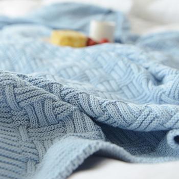110 #215 180 cm 180 #215 200 cm koc z dzianiny narzuta na łóżko dla sofa do salonu łóżko Nap na krześle tanie i dobre opinie Pościel Dekoracyjne Zwykły Knitted Throw Blanket YHOUSE solid cotton as show