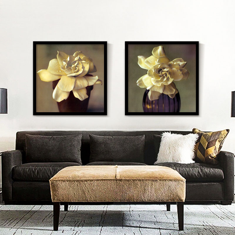 high quality gold rose petal art wall picture painting