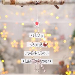 Декор рождественские украшения деревянные вечерние фестиваль буквы