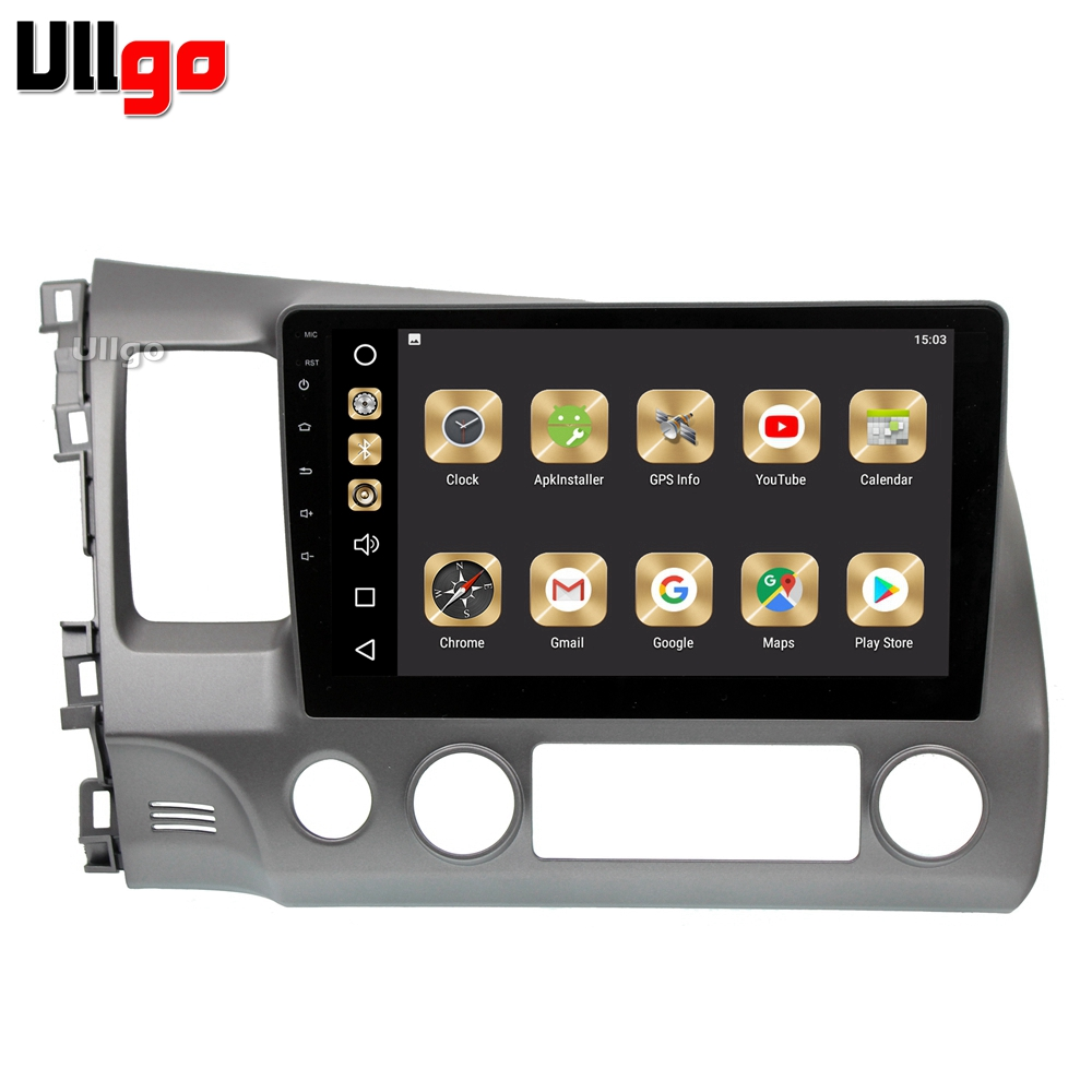 US $389 0 |Octa Core Android 8 0 Car Head Unit for Honda Civic 2006 2011  Autoradio GPSwith Radio RDS BT Mirror Link Wifi Free 16GB sd card-in Car