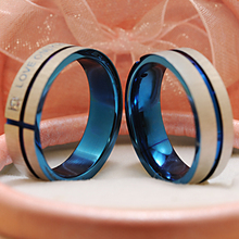 """Fashion Jewelry 316L Stainless Steel Simple Circle """"Love Only You"""" Couple Rings"""