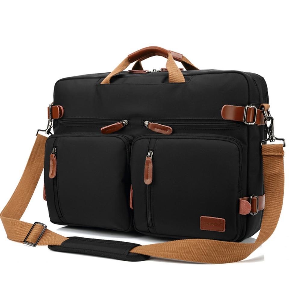 Bolso del negocio maletín mochila Convertible mochila 15 17 17,3 pulgadas portátil mensajero del hombro del ordenador portátil caso - 2