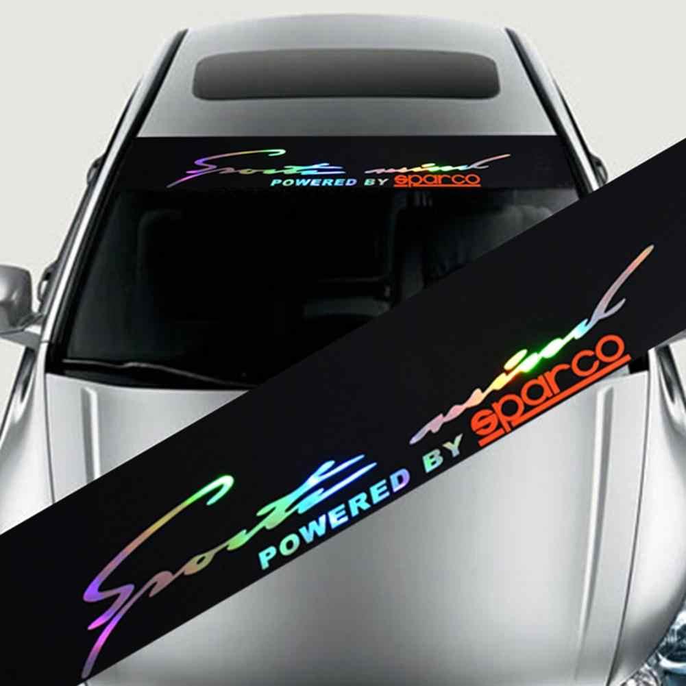 Laser reflective letters pvc windshield banner strip racing stripe sticker front rear window car sun visor