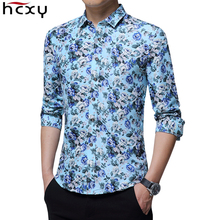 HCXY 2019 autumn New mens work shirts Brand Long sleeve Flor