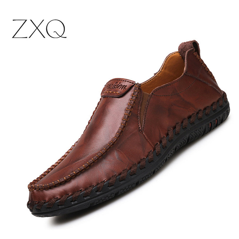 2017 New Fashion Men Casual Shoes Slip On Breathable Men Flat Driving Moccasins High Quality Men Loafers spring high quality genuine leather dress shoes fashion men loafers slip on breathable driving shoes casual moccasins boat shoes