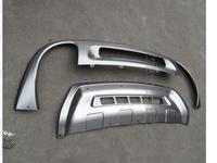 Нержавеющаясталь спереди + задний бампер Нескользящая защитная пластина для 2011 2012 2013 2014 для VW Touareg Volkswagon