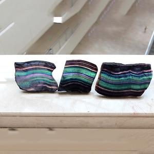 Image 4 - Natuurlijke Fluoriet Crystal Kleurrijke Gestreepte Fluoriet Rainbow Quartz Sieraden Stenen Ornamenten Crystal Originele Voor Geschenken