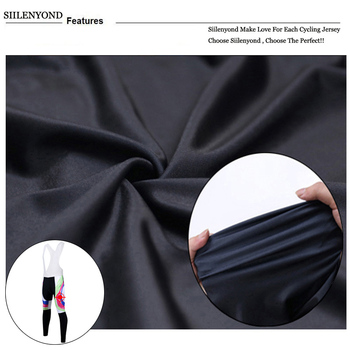 Siilenyond 2019 Women Winter Cycling Bib Pants With 3D Gel Pad Shockproof MTB Bicycle Cycling Bib Trousers Thermal Cycling Tight 4