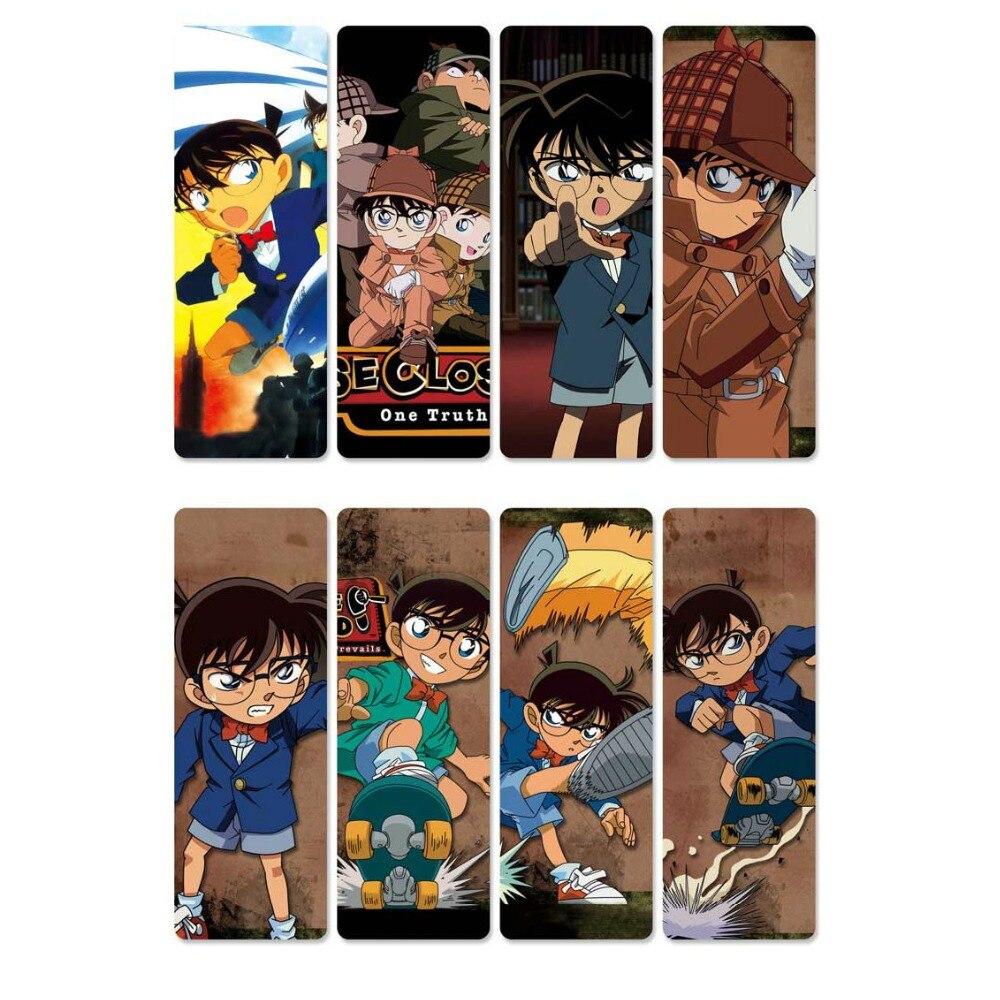 8pcs//set PVC Bookmarks of Detective Conan book mark A