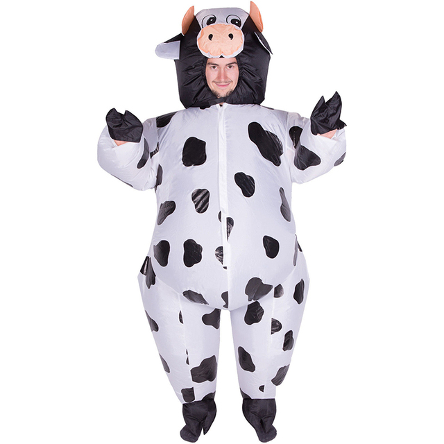 funny adult inflatable cow costumes fancy dress party animal halloween outfits - Halloween Costume Cow