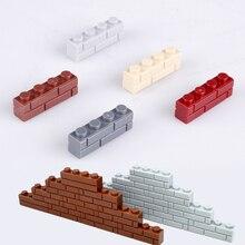 Городские блоки DIY блок кирпич 1X2 1x4 настенный кирпич MOC строительные блоки части совместимы с Legoed блоки творческие детские игрушки подарки
