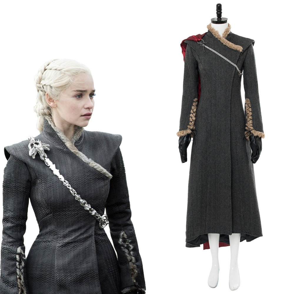Daenerys Targaryen Dany Gown Dress Game of Thrones Season 7 Cosplay Mother of Dragon Costume Outfit Halloween Cosplay Costumes