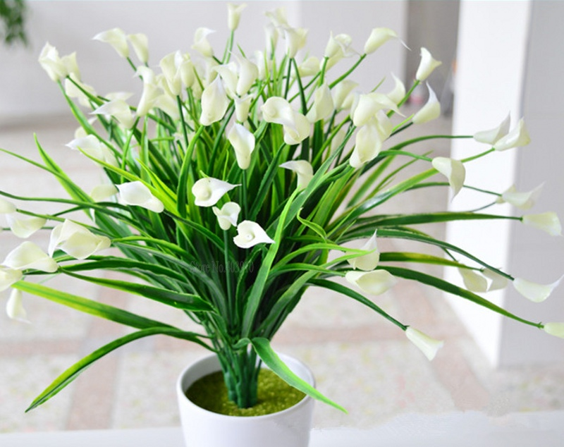 New Beautiful 25 Heads/Bouquet Mini Artificial Flowers With Plastic Leaf 1