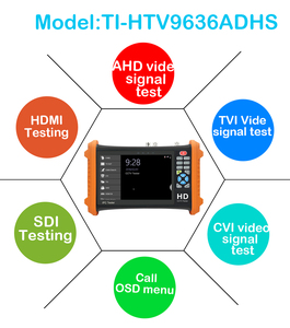 Image 3 - 7inch CCTV camera tester 8MP video Tester TVI CVI 5MP AHD 2MP SDI ahd monitor Camera HDMI Call OSD menu UTP monitor for cctv